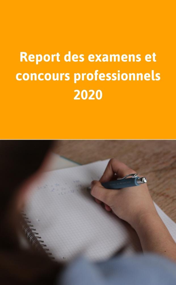 Report des concours et des examens 2020