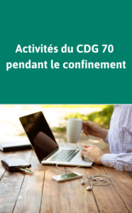 Synthèse de l'activité du CDG 70 pendant le confinement