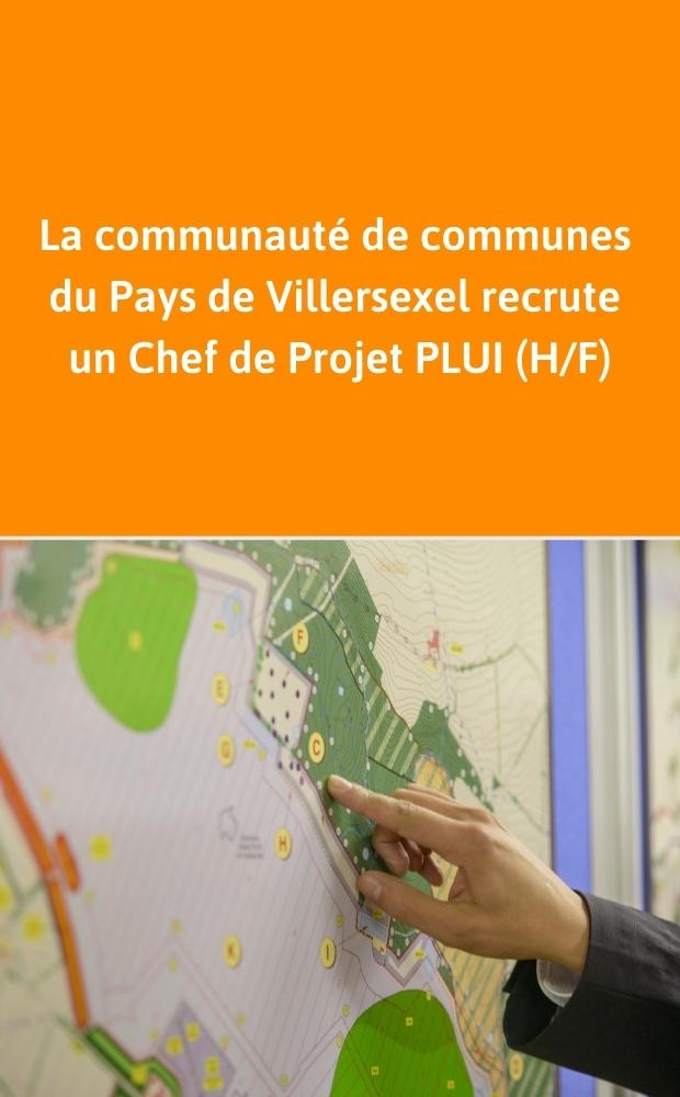 Chef de projet PLUI – Communauté de communes du Pays de Villersexel
