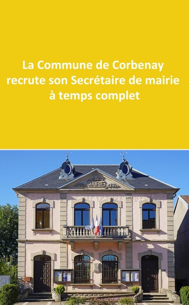 La commune de Corbenay recrute sa/son Secrétaire de mairie